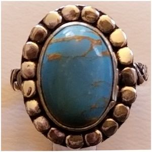 Natural Copper Turquoise Ring Size 7